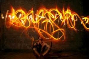 lightpainting feu