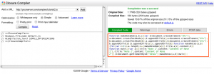 javascript google