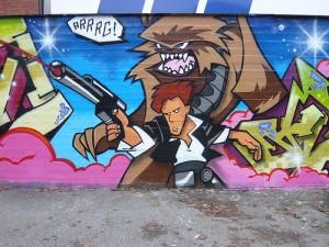 chewbaka graffiti