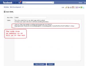 ga fbml facebook