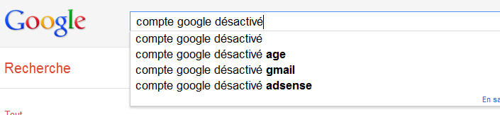 astuce google desactive